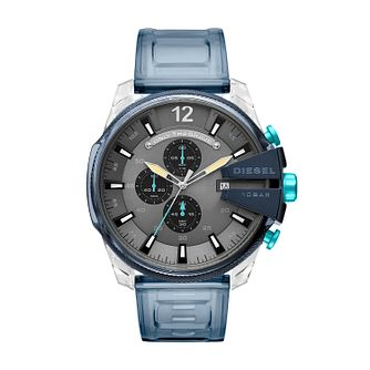 Diesel Mega Chief Blue Silicone Strap  Watch - Product number 9805656