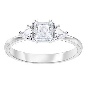 Swarvoski Ladies' Rhodium Plated Attract Ring - Product number 9808108