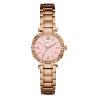 Guess Ladies' Pink Dial Rose Gold Watch - Product number 9808582