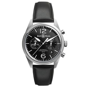 Bell & Ross Vintage men's chronograph black strap watch - Product number 9825568