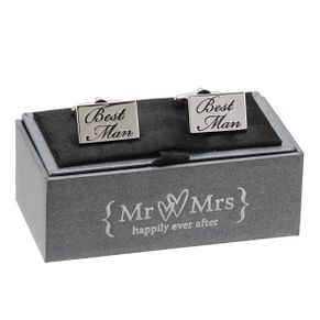 Special Memories Black Engraved Best Man Cufflinks - Product number 9825878