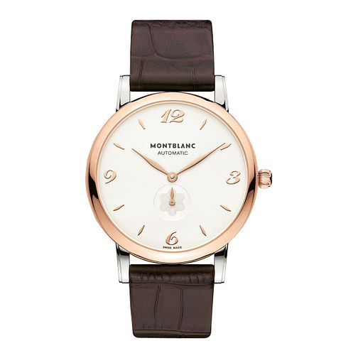 Montblanc men's two colour brown leather strap watch - Product number 9891900