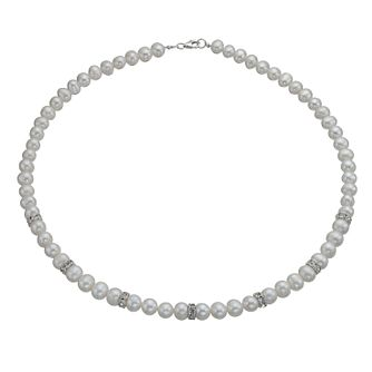 Cultured Freshwater Pearl & Crystal Necklace - Product number 9898417