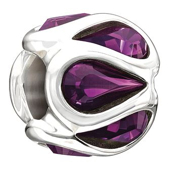Chamilia Embrace purple Swarovski element bead - Product number 9900217