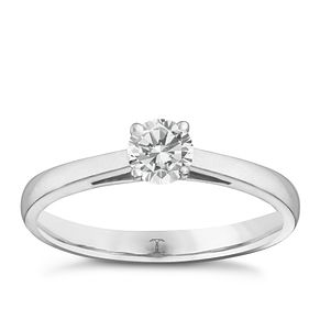 Tolkowsky 18ct white gold 2/5ct I-I1 diamond ring - Product number 9907521