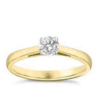 Tolkowsky 18ct yellow gold 0.40ct I-I1 diamond ring - Product number 9907653