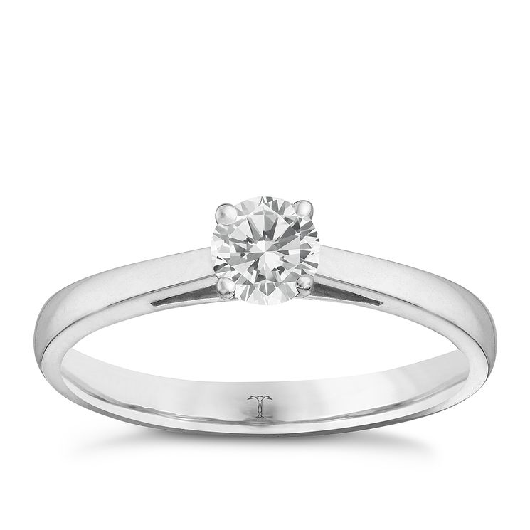Tolkowsky platinum 0.40ct I-I1 diamond ring - Product number 9907793