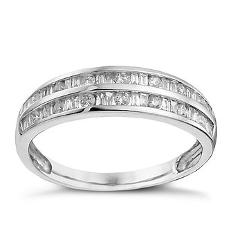 9ct White Gold 0.33ct Diamond Eternity Ring - Product number 9909133