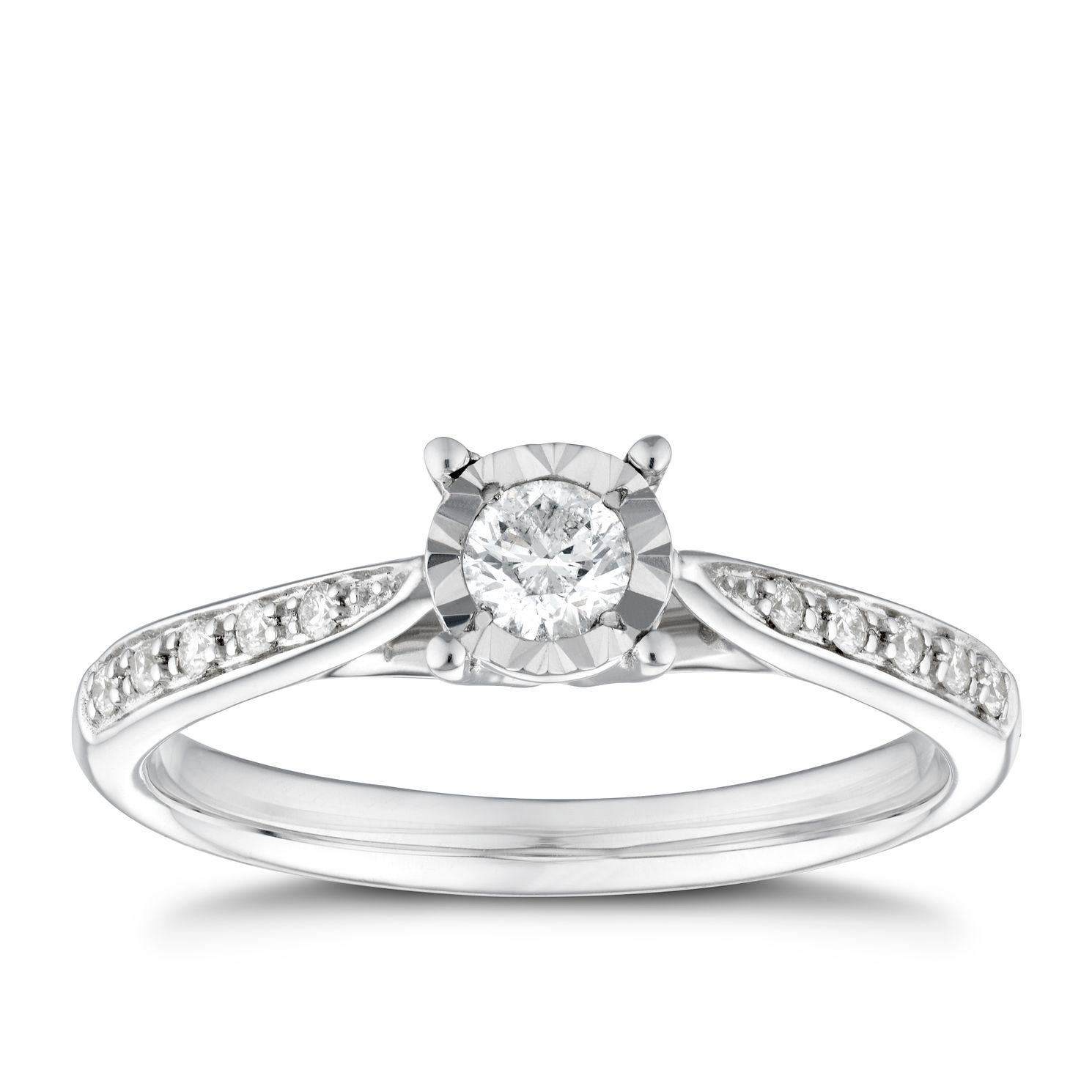 round jewellery cut in diamond solitaire ring platinum brilliant