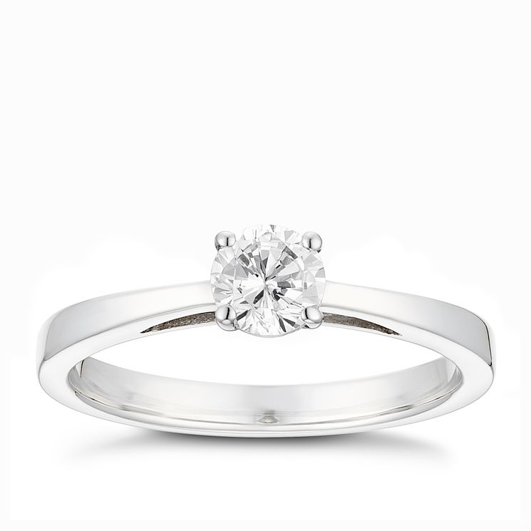 Tolkowsky 18ct white gold 0.40ct HI-SI2 diamond ring - Product number 9912126