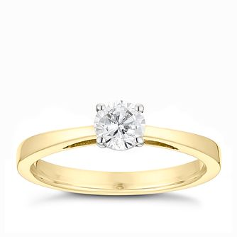 Tolkowsky 18ct yellow gold 0.40ct HI-SI2 diamond ring - Product number 9912266