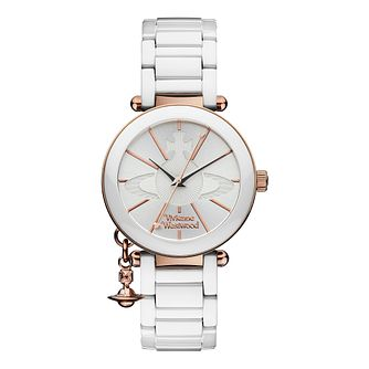 Vivienne Westwood ladies' rose gold-plated white watch - Product number 9912525