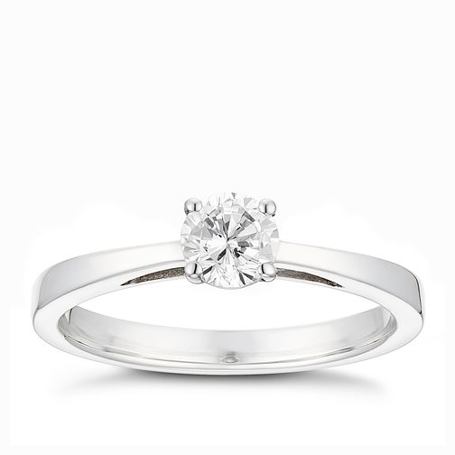 Tolkowsky platinum 0.40ct HI-VS2 diamond ring - Product number 9912819