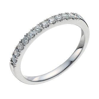 18ct white gold 0.25ct diamond ring - Product number 9914609
