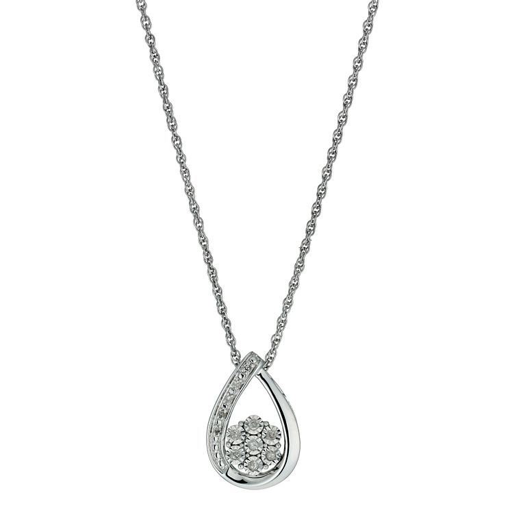 Diamond necklaces hmuel argentium silver illusion set diamond pendant necklace product number 9921052 aloadofball Image collections