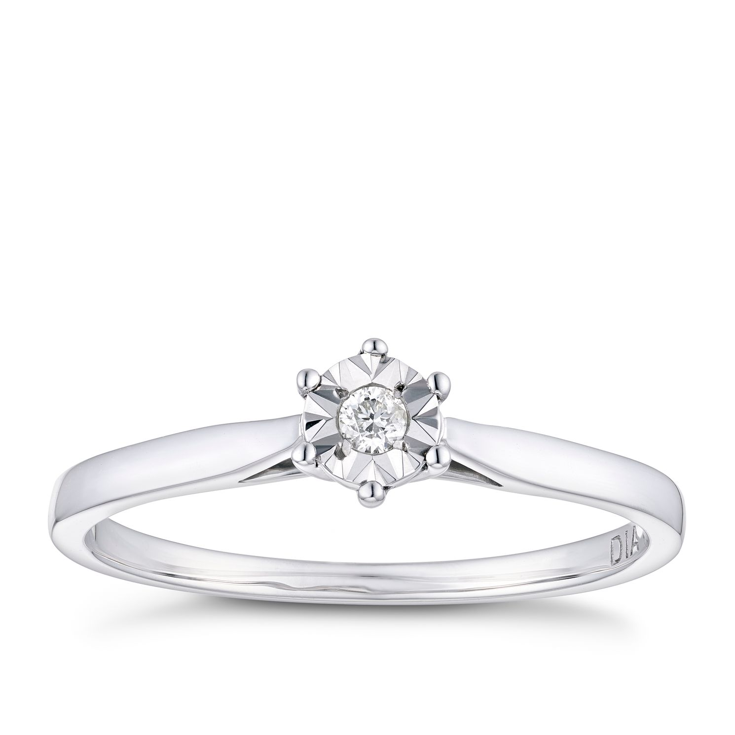 in white forevermark diamond ring gold jewellery solitaire
