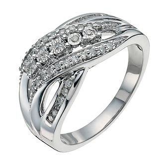 Sterling Silver 1/5ct Diamond Eternity Ring - Product number 9927972