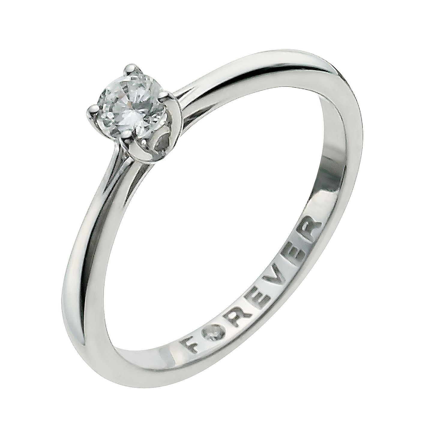 ring set band diamond prong certified igi engagement gold carat products clarity