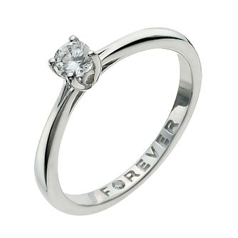 9ct White Gold 1/4 Carat Forever Diamond Ring - Product number 9935371