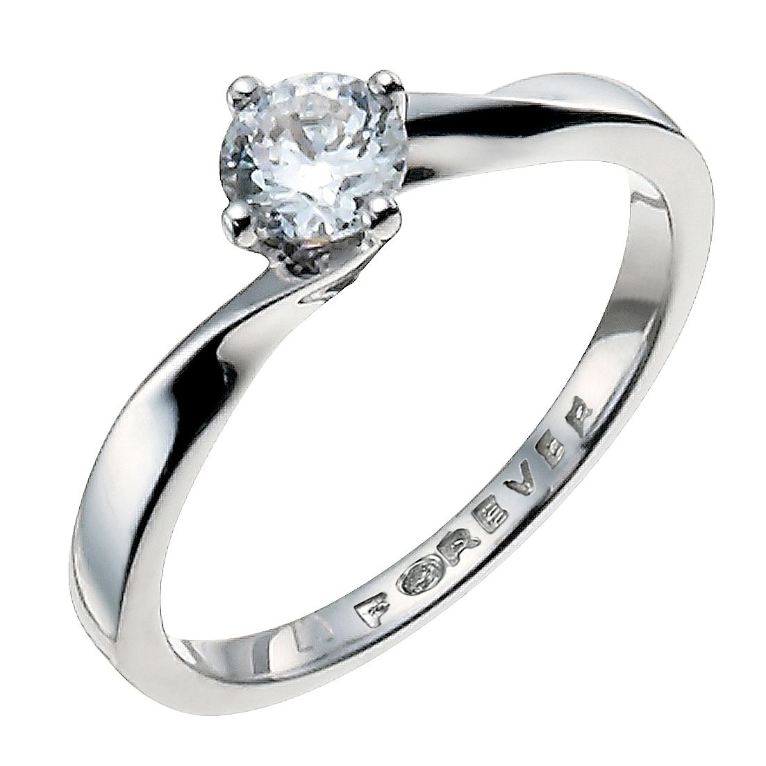 Palladium 1/3 Carat Forever Diamond Ring | H.Samuel
