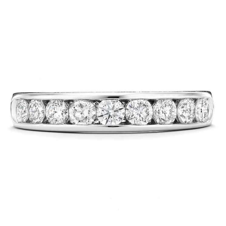 Tolkowsky 18ct white gold 0.75ct I-I1 diamond ring - Product number 9937285