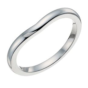 9ct white gold 2mm shaped ring - Product number 9938680