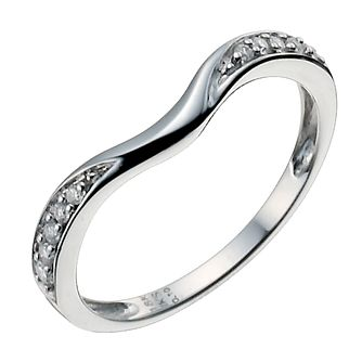 18ct white gold 10 point diamond shaped ring - Product number 9947094