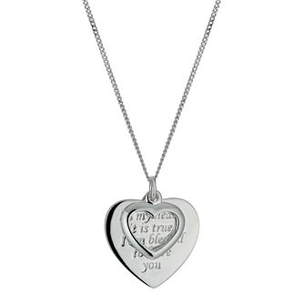 Sterling Silver Friends Heart Pendant - Product number 9949097
