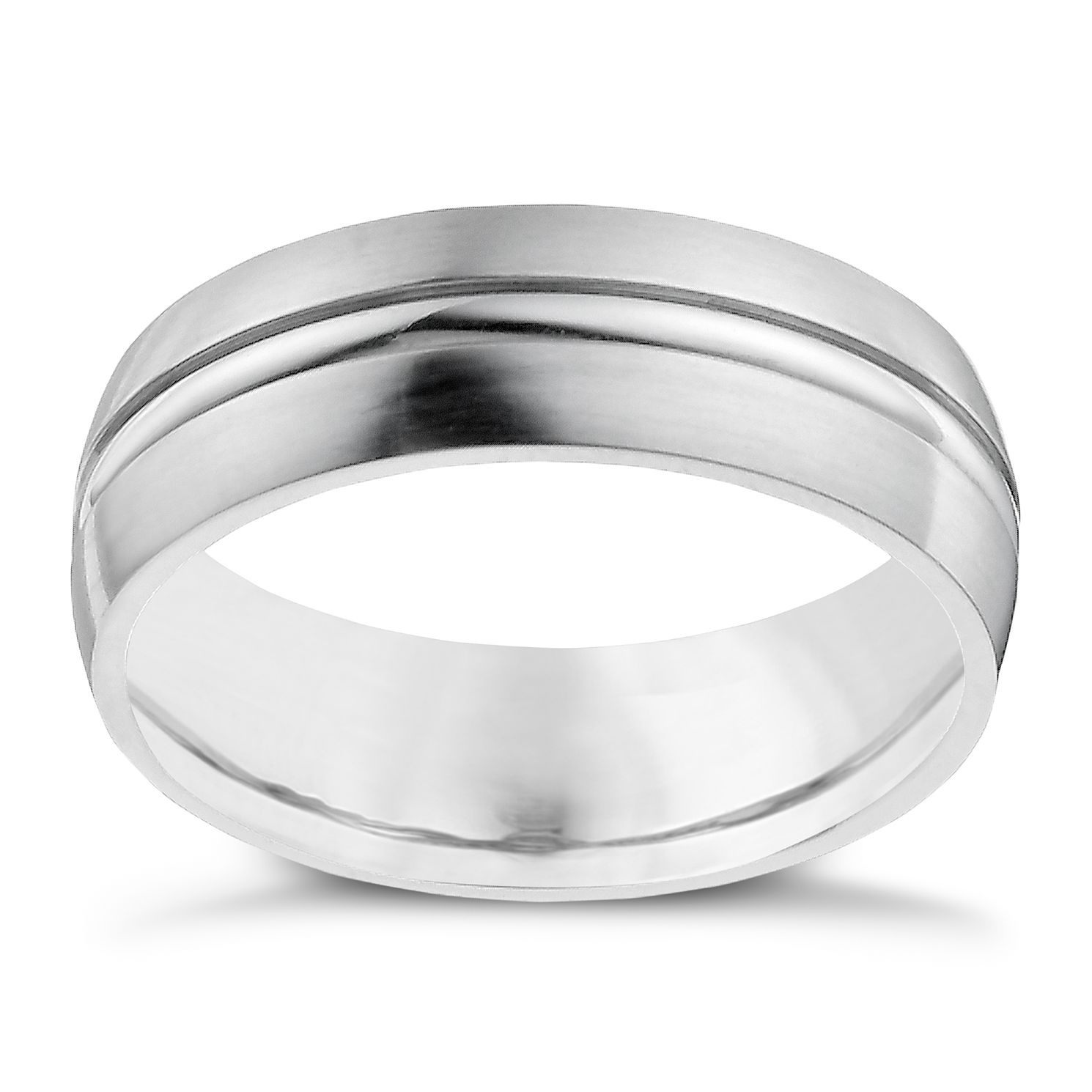 cobalt 7mm double groove ring product number 9949410 - Grooms Wedding Ring