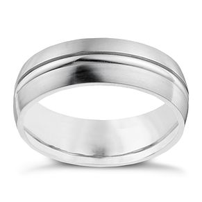 Cobalt 7mm double groove ring - Product number 9949410