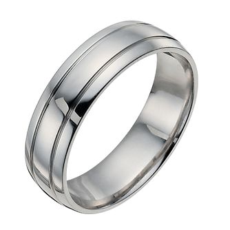 Palladium 950 6mm polished groove band ring - Product number 9950966
