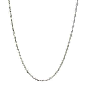 "Sterling Silver 18"" Popcorn Necklace - Product number 9953264"