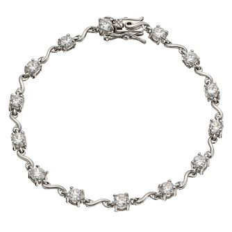Sterling Silver & Cubic Zirconia Bracelet - Product number 9953582