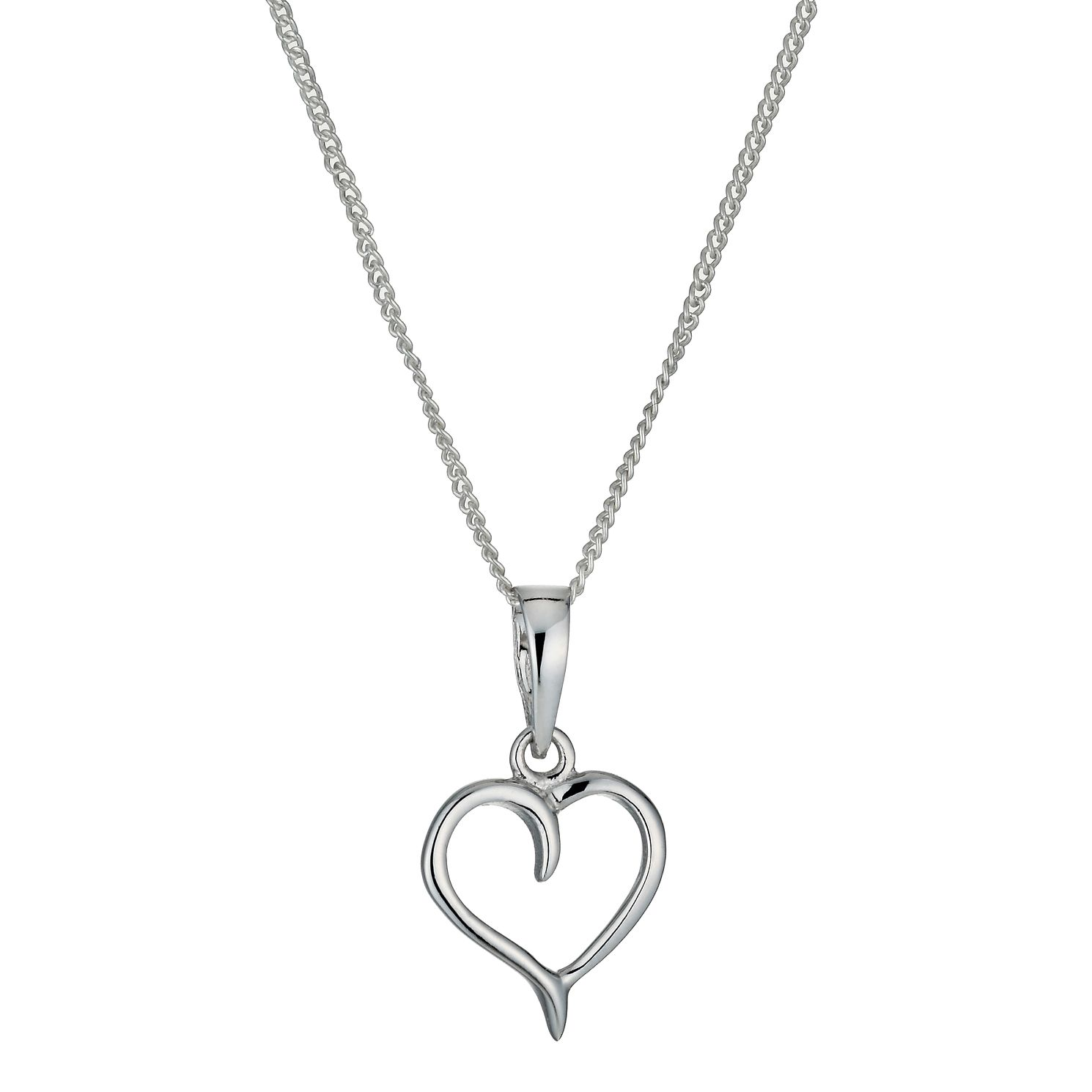 Sterling silver heart pendant necklace hmuel sterling silver heart pendant necklace product number 9953876 mozeypictures Gallery