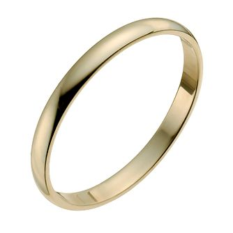 9ct Yellow Gold 2mm Heavy D Shape Ring - Product number 9953884
