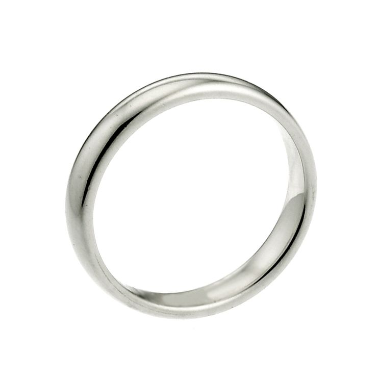9ct White Gold 2mm Super Heavy Court Ring - Product number 9954546