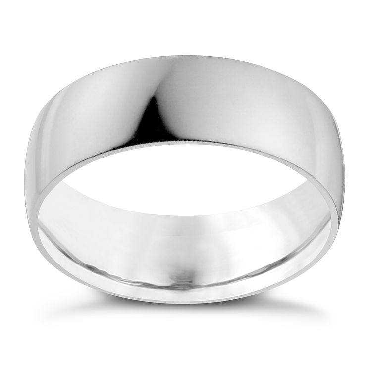 Palladium 950 7mm Extra Heavy D Shape Ring - Product number 9958142