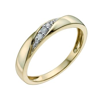 9ct Yellow Diamond Set Ring - Product number 9958762
