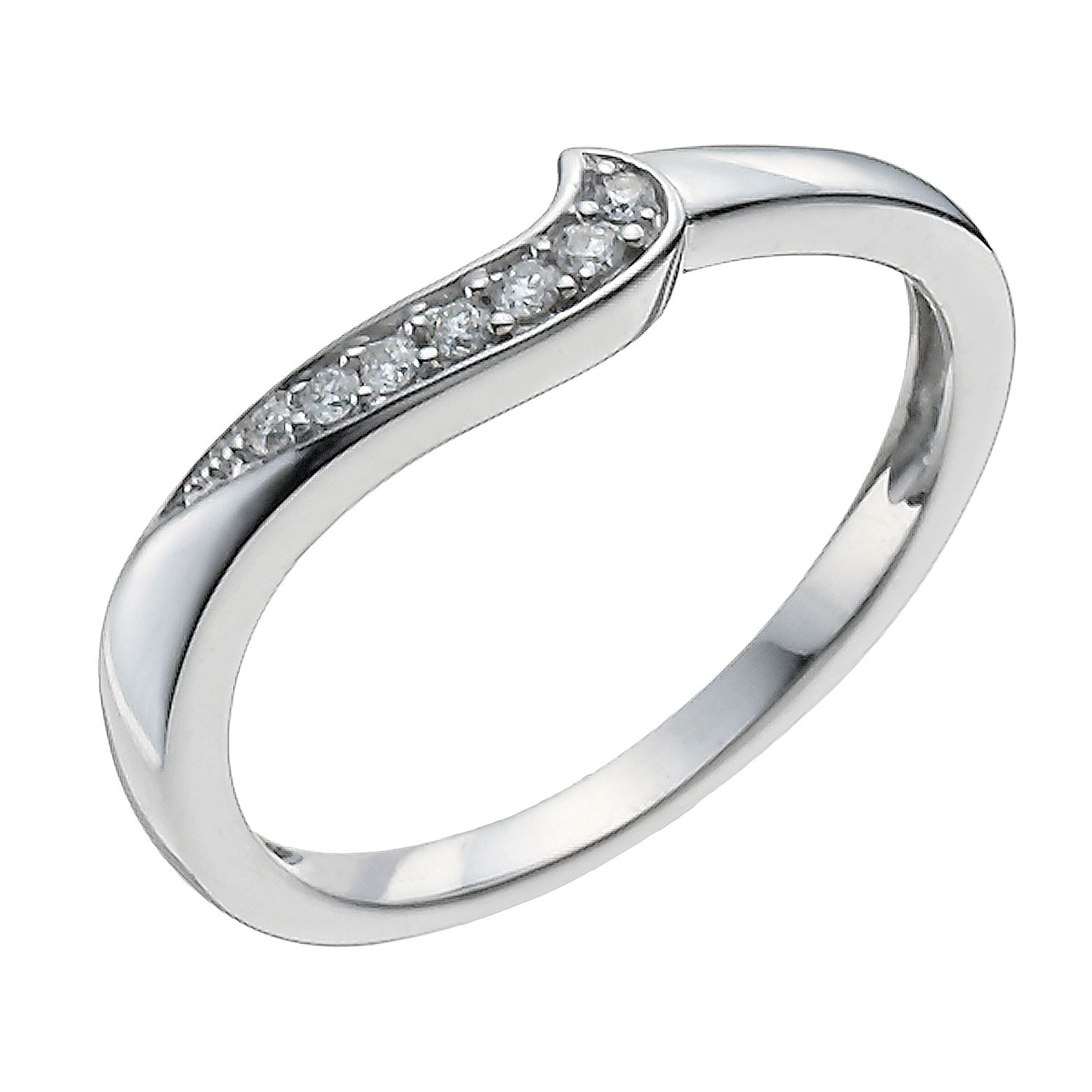 9ct White Gold Shaped Diamond Ring   Product Number 9962530