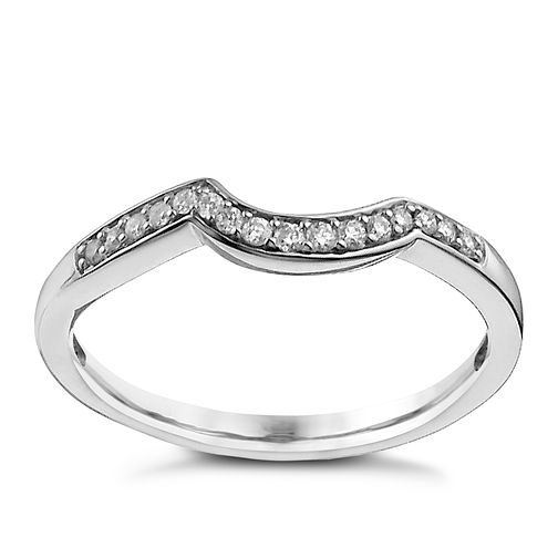18ct White Gold Shaped Diamond Ring - Product number 9963324