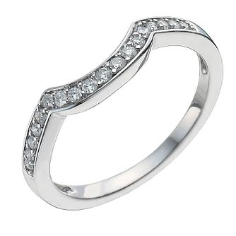18ct White Gold 15 Point Diamond Shaped Ring - Product number 9963456