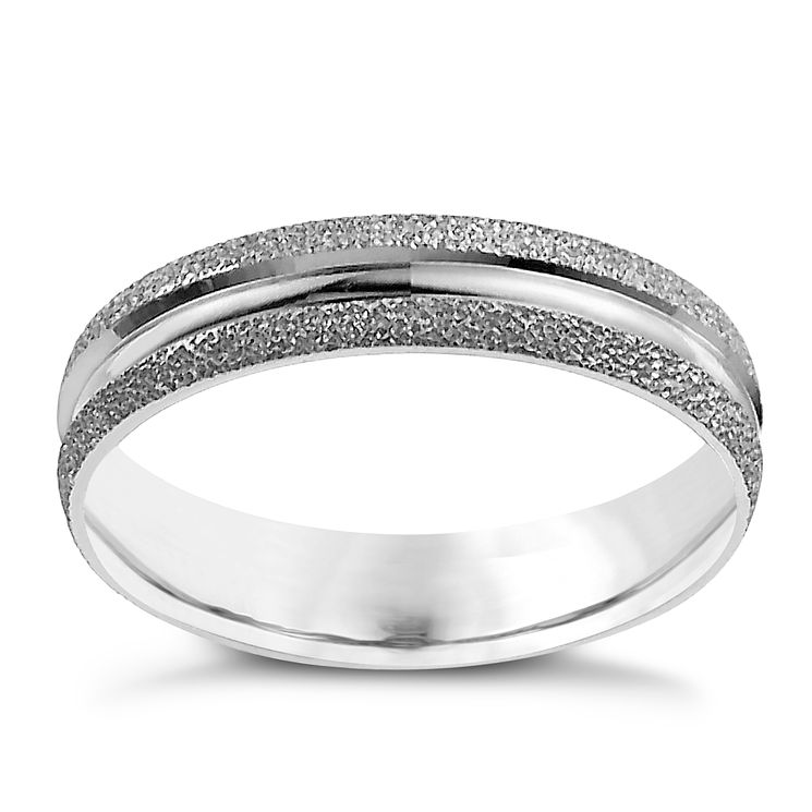 9ct White Gold 4mm Fancy Ring - Product number 9965424
