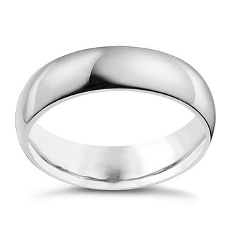 18ct White Gold 6mm Super Heavy Court Ring - Product number 9969950