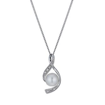 9ct white gold cultured freshwater pearl pendant - Product number 9974296
