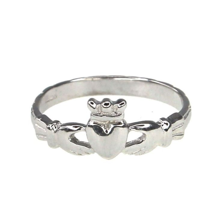 Cailin Sterling Silver Claddagh Ring - Size N - Product number 9974741