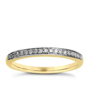 9ct Yellow Gold & Diamond Perfect Fit Eternity Ring - Product number 9985697