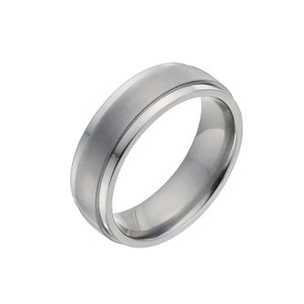 Men's Titanium Matt & Polished Ring - Product number 9990593