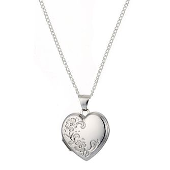 Sterling Silver Flower Heart Locket - Product number 9994947