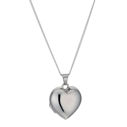 Sterling Silver Puff Heart Locket - Product number 9995048