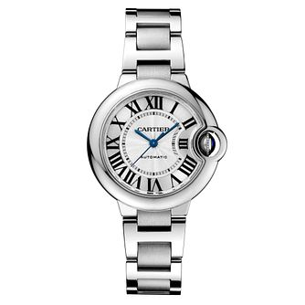Cartier Ballon Bleu 33mm ladies' steel bracelet watch - Product number 9995803